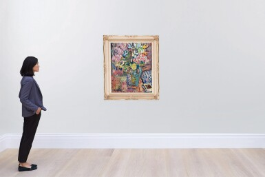View 4. Thumbnail of Lot 54. JAN CYBIS | STILL LIFE WITH FLOWERS.