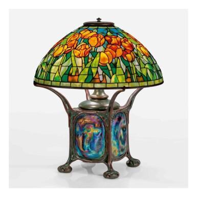 "View 1. Thumbnail of Lot 516. ""Tulip"" Table Lamp."