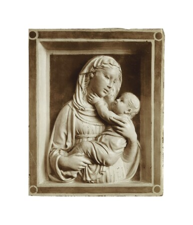 View 3. Thumbnail of Lot 2. Relief of the Madonna and child, c1450 .