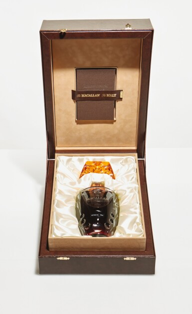 View 1. Thumbnail of Lot 14. The Macallan 55 Year Old in Lalique, 6 Pillars, Second Edition, 40.1 abv NV (1 BT75cl).