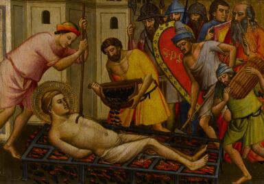 View 1. Thumbnail of Lot 4. The Martyrdom of Saint Lawrence.