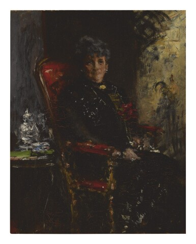 WILLIAM MERRITT CHASE | LADY AT THE WINDOW (PORTRAIT STUDY OF MME E. H. BENSEL)