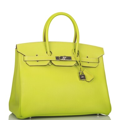 """View 2. Thumbnail of Lot 31. Hermès Bi-color Kiwi and Lichen """"Candy"""" Birkin 35cm of Epsom Leather with Palladium Hardware."""