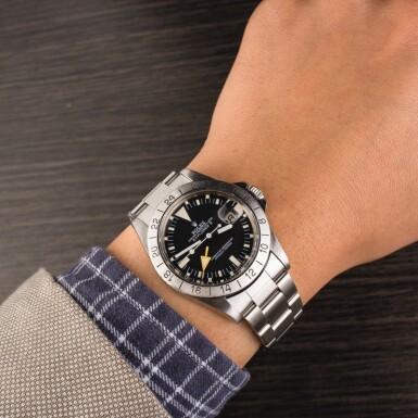 ROLEX   Explorer II, Ref. 1655, A Stainless Steel Wristwatch with Bracelet, Circa 1984