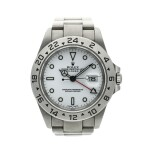Reference 16570 Explorer II  A stainless steel automatic dual time wristwatch with date and bracelet, Circa 2000