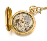 DENT, LONDON |  A GOLD HUNTING CASED MINUTE REPEATING KEYLESS LEVER WATCH