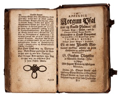 View 2. Thumbnail of Lot 182. Moller, Paradisar likell, Skálholt, 1686, contemporary Icelandic calf.