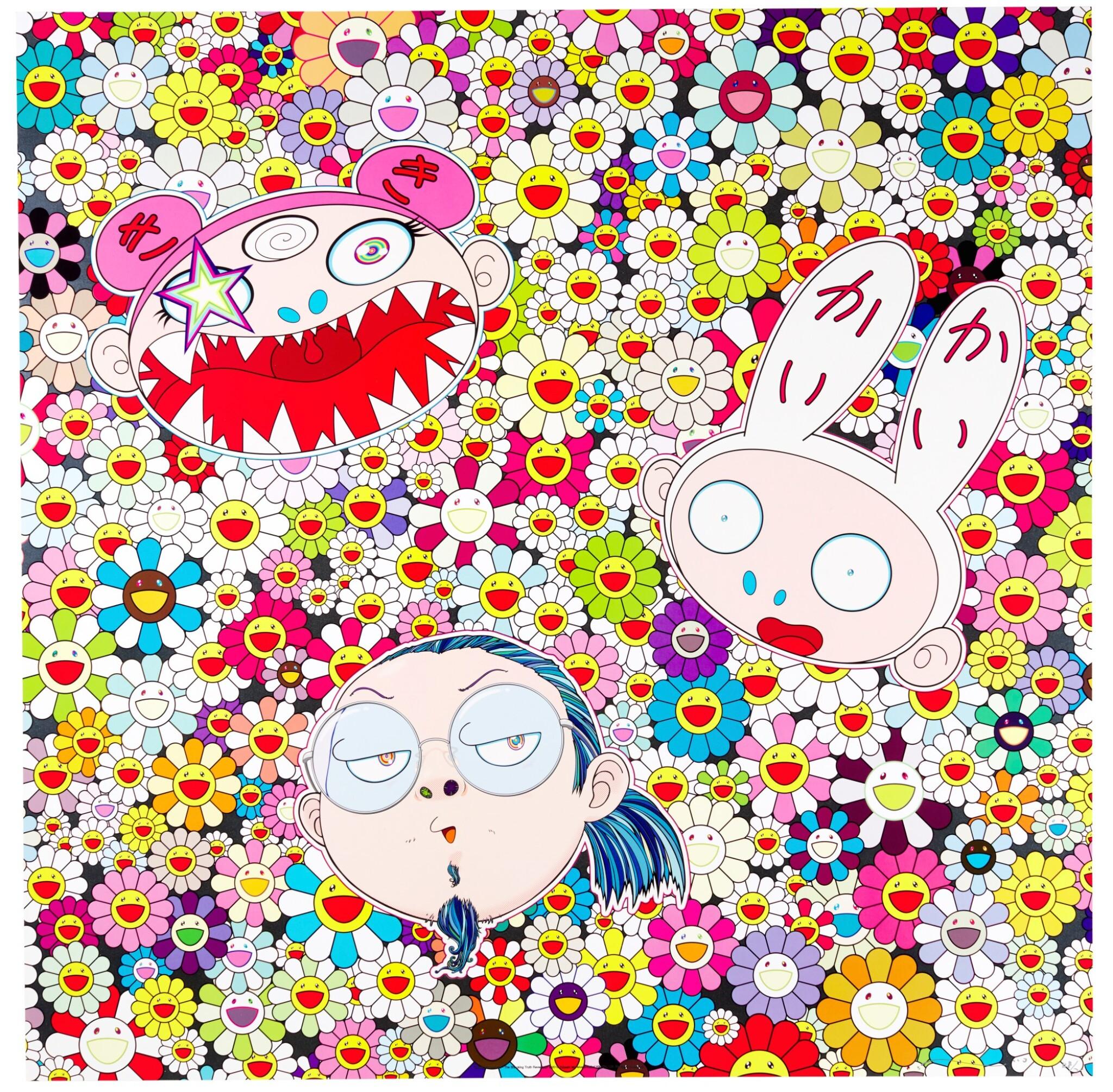 View full screen - View 1 of Lot 45.  TAKASHI MURAKAMI | KAIKAI KIKI AND ME; AND FLOWER SMILE.