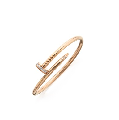 PINK GOLD AND DIAMOND 'JUSTE UN CLOU' BANGLE-BRACELET, CARTIER
