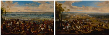 View 1. Thumbnail of Lot 636. Battle of Torino, and another battle scene.