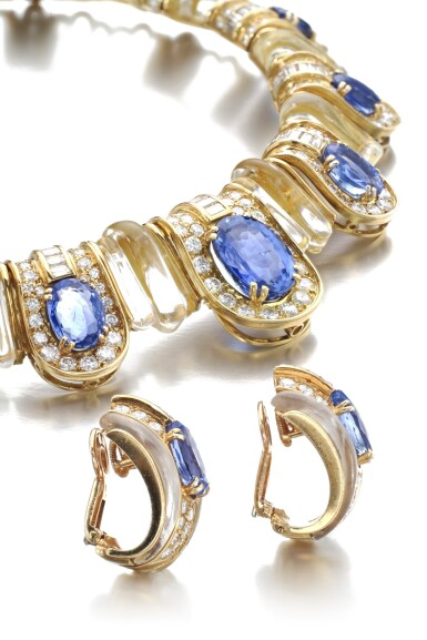 View 2. Thumbnail of Lot 620. Boucheron | Rock crystal, sapphire and diamond demi-parure | 寶詩龍 | 白水晶配藍寶石及鑽石首飾套裝.