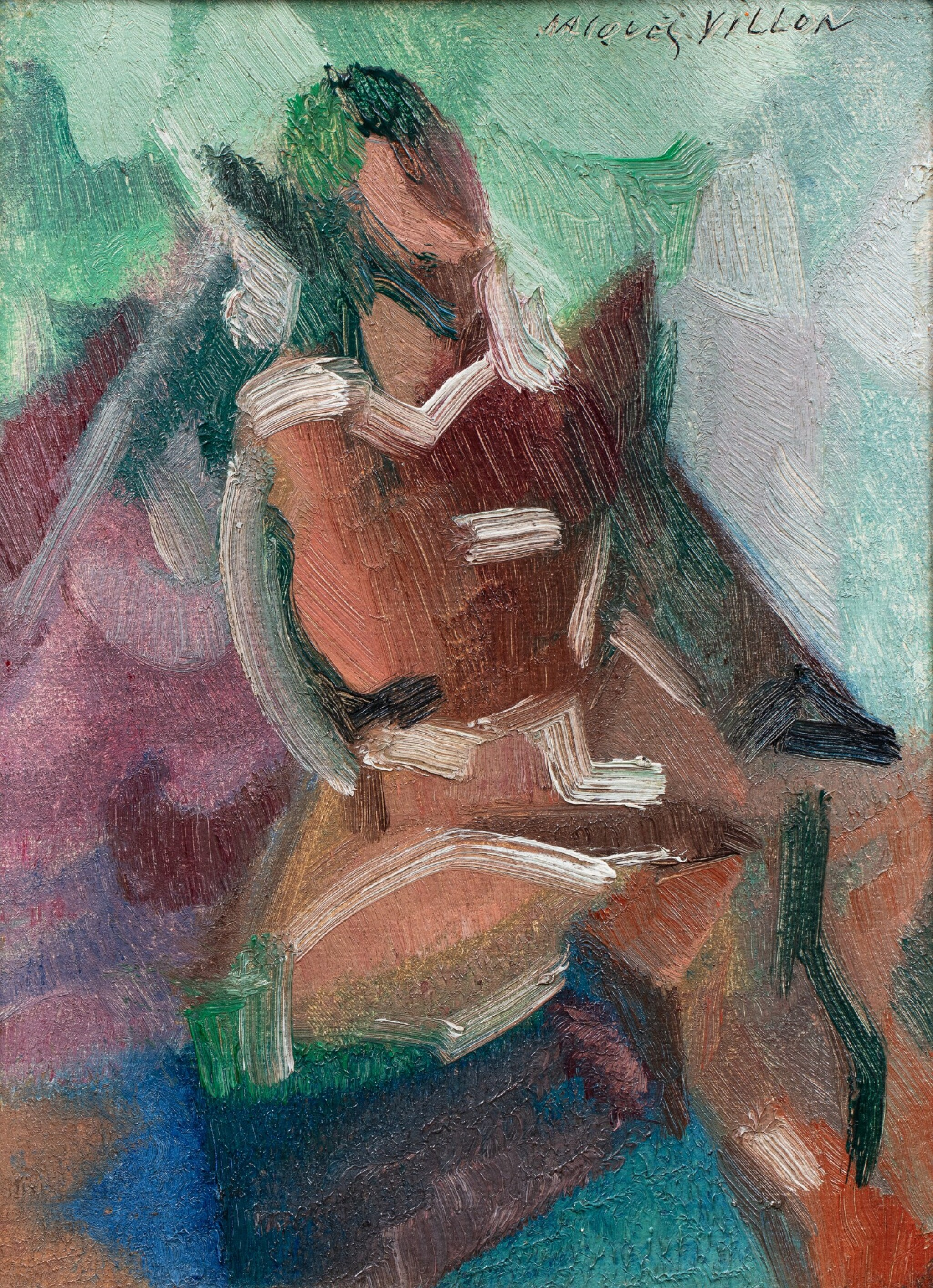 View full screen - View 1 of Lot 13. JACQUES VILLON | FEMME ASSISE.
