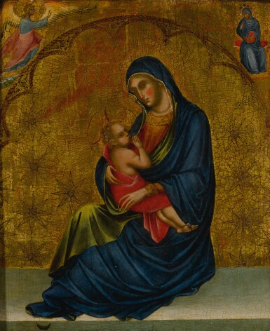 View 1. Thumbnail of Lot 503. Madonna of Humility with the Annunciation .