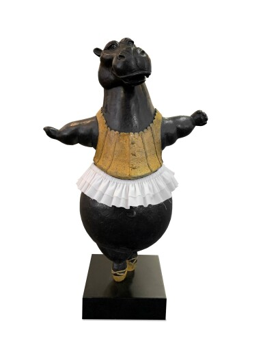View 1. Thumbnail of Lot 30. Hippo Tightrope Walker, Maquette.