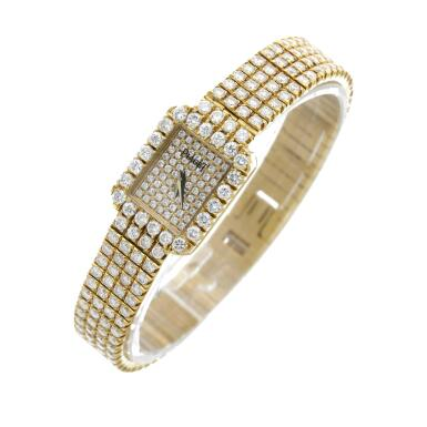 View 2. Thumbnail of Lot 29. Reference 15241 C626   A yellow gold and diamond-set bracelet watch, Circa 1990 .