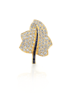 Sapphire and Diamond Maple Leaf Brooch
