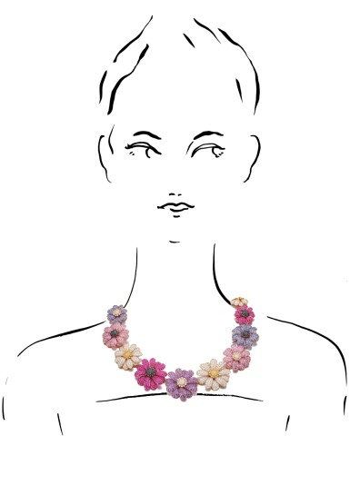 View 4. Thumbnail of Lot 2. MICHELE DELLA VALLE | GEM SET AND DIAMOND NECKLACE.
