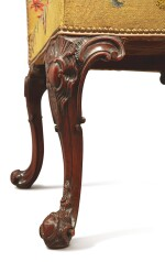 A PAIR OF LATE GEORGE II CARVED MAHOGANY SIDE CHAIRS, MID-18TH CENTURY