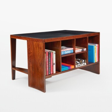 """View 2. Thumbnail of Lot 84. """"Pigeonhole"""" or """"Office Table"""" Desk, Model No. PJ-BU-02-A."""