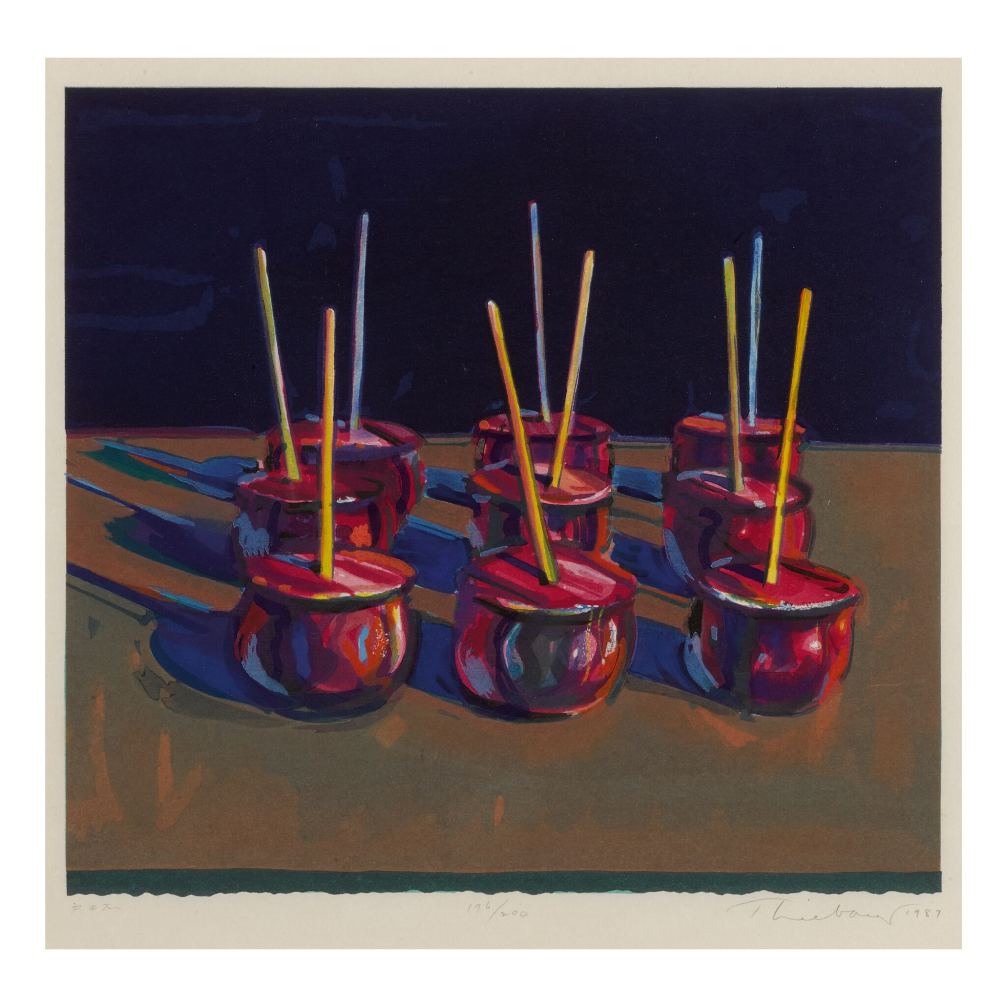 View full screen - View 1 of Lot 22. WAYNE THIEBAUD | CANDY APPLES.