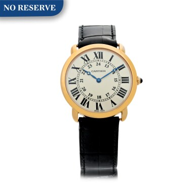REFERENCE 2889 RONDE SOLO DE CARTIER A PINK GOLD WRISTWATCH, CIRCA 2015