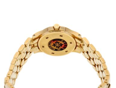 View 5. Thumbnail of Lot 6. Reference 4881/1 Neptune  A yellow gold and diamond-set bracelet watch with date, Made in 2000 .