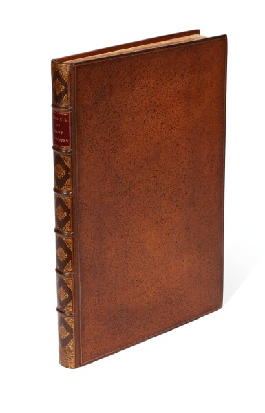 View 5. Thumbnail of Lot 64. Le Hay & Ferriol. Recueil de cent estampes. Paris, 1714. folio. hand-coloured plates. mottled calf gilt by Aquarius.