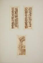 STEFANO DELLA BELLA | Design for the exhibition of a monstrance and a cartouche