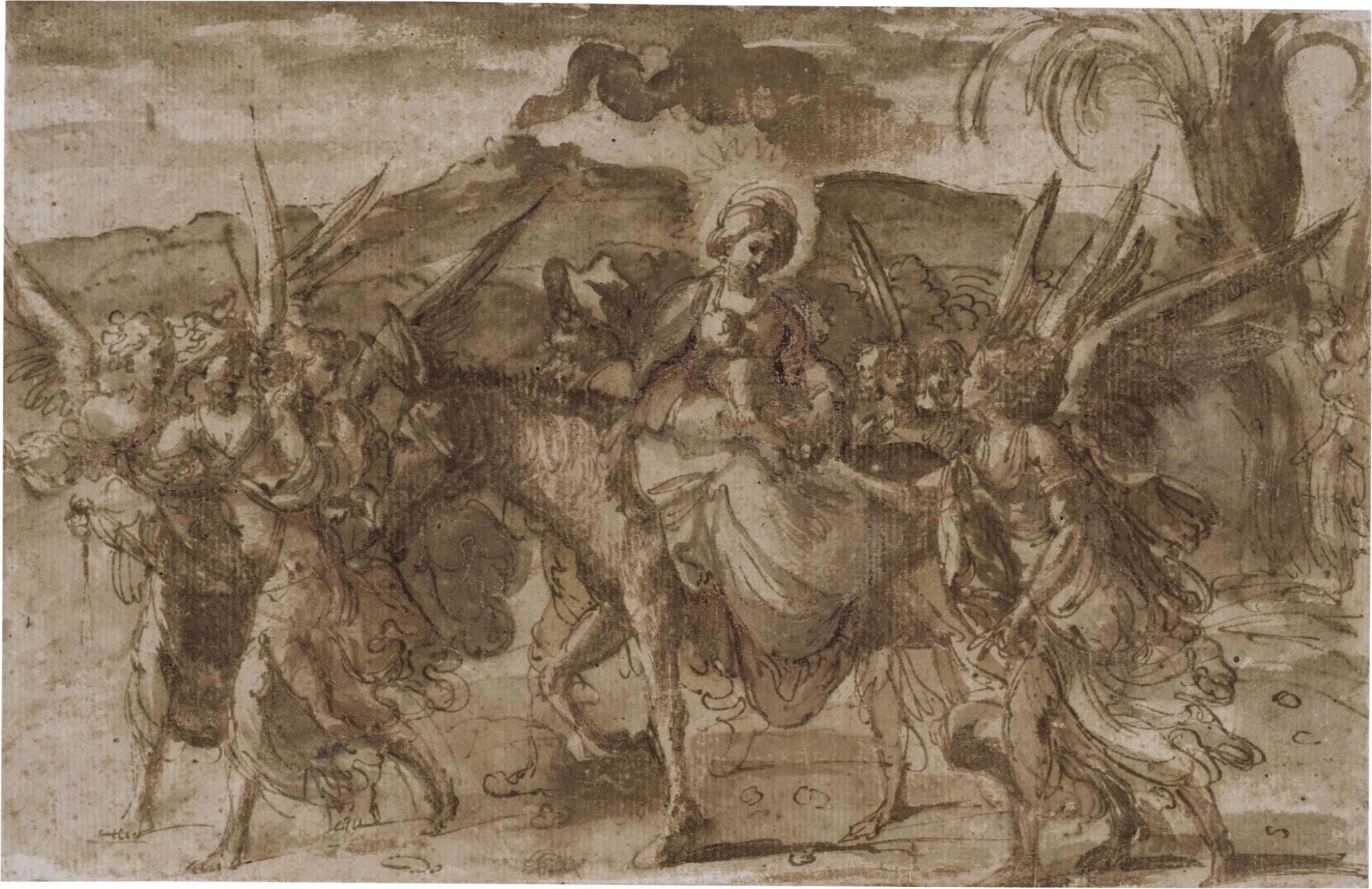 View full screen - View 1 of Lot 218. The Flight into Egypt.