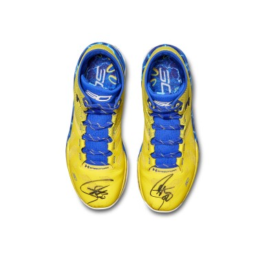 View 9. Thumbnail of Lot 801. Under Armour Stephen Curry Game Worn Dual Signed Curry 2.