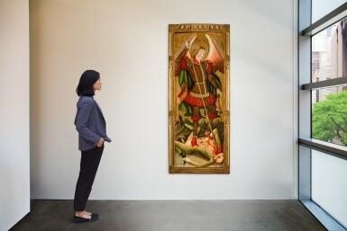 View 2. Thumbnail of Lot 25. MAESTRO DE LOS FLORIDA (JUAN DE BONILLA? DOC. 1442–78) |  SAINT MICHAEL VANQUISHING THE DEVIL   .