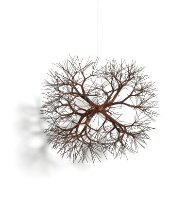 View 2. Thumbnail of Lot 301. Untitled (S.653, Hanging Tied-Wire, Double-Sided, Center-Tied, Six-Branched Form Based on Nature).