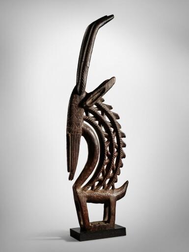View 2. Thumbnail of Lot 36. Bamana Vertical Antelope Headdress, Mali.