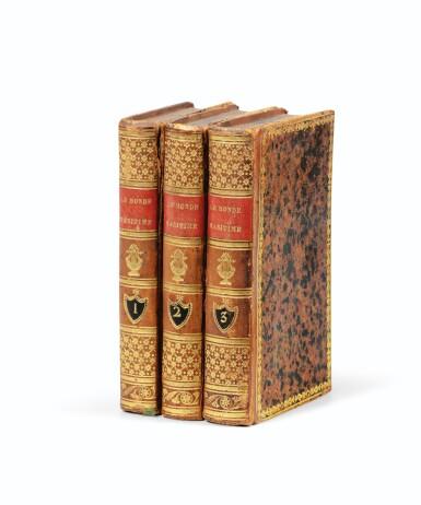 View 3. Thumbnail of Lot 30. WALCKANAER. Le Monde maritime...Nepveu, 1818. 3 vol. in-16, basane brune ornée de l'époque. .