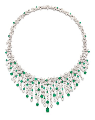 View 2. Thumbnail of Lot 1037. 'Rhythm' Emerald and Diamond Necklace | 格拉夫| 'Rhythm' 祖母綠 配 鑽石 項鏈 (祖母綠及鑽石共重約12.20及34.80克拉).