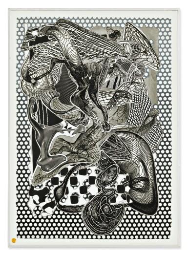 FRANK STELLA   RIALLARO (BLACK AND WHITE) (AXSOM 232A)