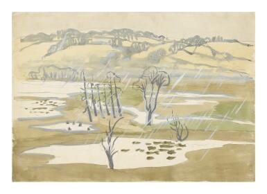 CHARLES EPHRAIM BURCHFIELD | UNTITLED (LANDSCAPE WITH TREES)
