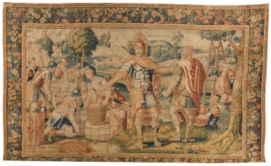 View 1. Thumbnail of Lot 34. A Flemish Classical Tapestry, Oudenaarde, second half 16th century.