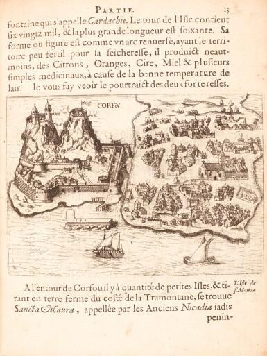 View 1. Thumbnail of Lot 158. Beauvau | Relation journaliere du voyage du Levant, 1615.