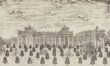 View 37. Thumbnail of Lot 362. A SET OF TWENTY PRINTS OF PALACES, PAVILIONS AND GARDENS AT YUANMING YUAN | 巴黎、1977年 《郎世寧圓明園西洋樓》 一組二十幅 水墨紙本.