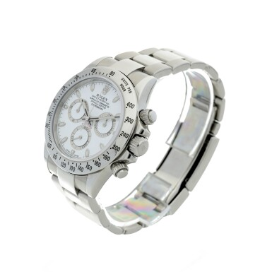 View 2. Thumbnail of Lot 4. ROLEX | REFERENCE 116520 DAYTONA A STAINLESS STEEL AUTOMATIC CHRONOGRAPH WRISTWATCH WITH BRACELET, CIRCA 2012.