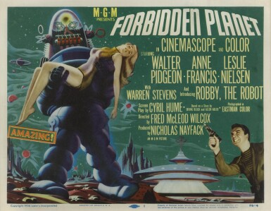 Forbidden Planet (1956) title card, US