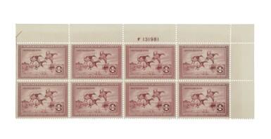 Hunting Permits 1935 $1.00 Rose Lake (RW2)