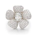 DIAMOND RING | 1.02卡拉 古墊形 I色 VVS1淨度 鑽石 配 鑽石 戒指