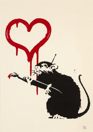 View 1. Thumbnail of Lot 23. BANKSY | LOVE RAT.