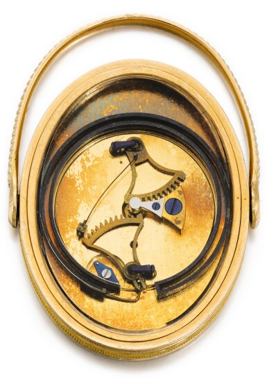 View 2. Thumbnail of Lot 59. BREGUET ET FILS   [寶璣]    A VERY RARE GOLD OVAL RING THERMOMETER  NO. 2119, SOLD 1 MAY 1810 BY MOREAU OF LA MAISON RUSSIE TO COMTE POTOCKI FOR 336 FRANCS   [極罕有黃金橢圓形溫度計,編號2119,1810年5月1日以336法郎售予波托茨基伯爵].