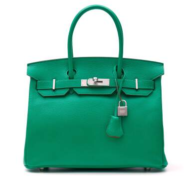 View 1. Thumbnail of Lot 346. Menthe Birkin 30cm in Chèvre Mysore Leather with Palladium Hardware, 2013.