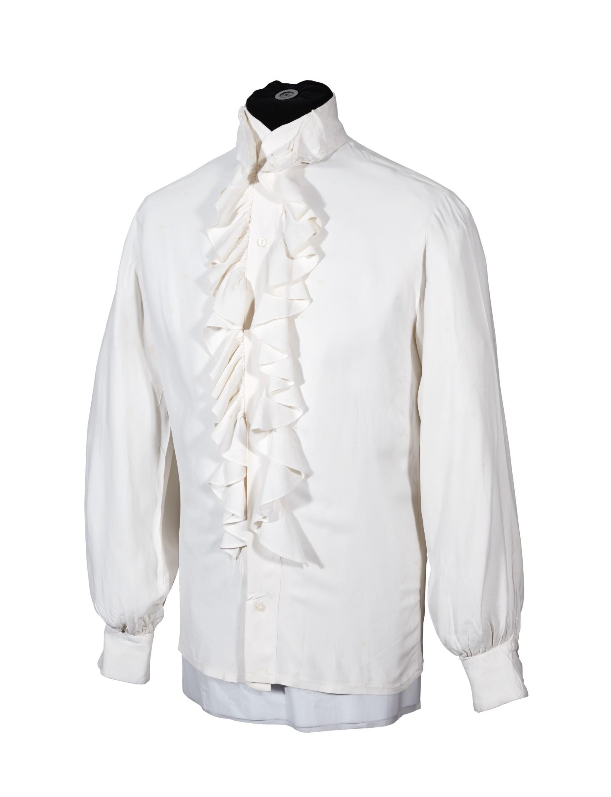 RINGO STARR   Cream shirt with ruffle collar, c.1968