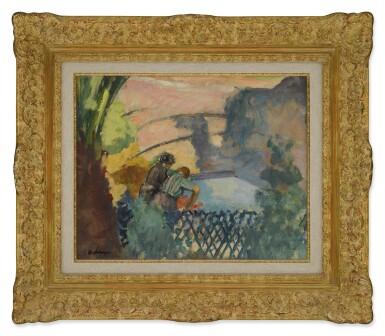 View 2. Thumbnail of Lot 59. Deux femmes au lavoir.