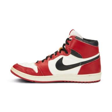 View 6. Thumbnail of Lot 803. Michael Jordan Game Worn 1985 Player Sample Air Jordan 1s   Sizes 13, 13.5.